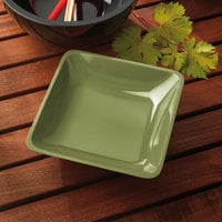 Elite Global Solutions M10SQ Belize Weeping Willow Green 2.25 Qt. Square Melamine Bowl