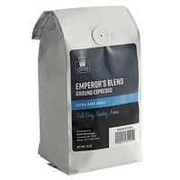Crown Beverages 12 oz. Emperor's Blend Ground Espresso - 6/Case