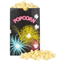 Bagcraft Packaging 300449 5 1/2 inch x 3 1/4 inch x 8 5/8 inch 85 oz. Funburst Design Popcorn Bag - 500/Case