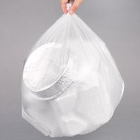 15 Gallon 8 Micron 24 inch x 33 inch Lavex Janitorial High Density Can Liner / Trash Bag - 1000/Case