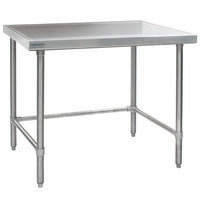 Eagle Group T3048GTEM 30 inch x 48 inch Open Base Stainless Steel Commercial Work Table