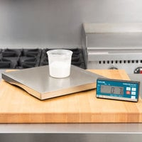 Taylor TE30WD 30 lb. Stainless Steel Portion Control Scale with Wireless Digital Display and Touchless Tare