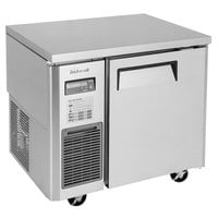 Turbo Air JUR-36-N6 J Series 36 inch Solid Door Undercounter Refrigerator with Side Mounted Compressor