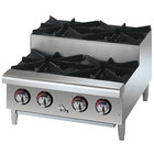 Star Max 604HF-SU 4 Burner Step Up Countertop Range / Hot Plate 100,000 BTU - 24