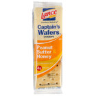 Lance Captain's Wafers Peanut Butter & Honey Sandwich Crackers 20 Count Box - 6 / Case