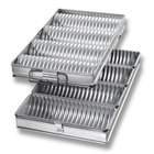 Chicago Metallic Glazed 48514 Crimped Round 4 Loaf Bread Pan Set