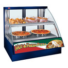 Hatco FSCD-2PD Navy Flav-R-Savor Convected Air Curved Front Display Case