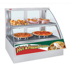 Hatco FSCDH-2PD White Flav-R-Savor Convected Air Curved Front Display Case with Humidity Control