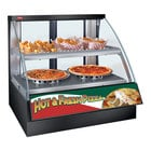 Hatco FSCD-2PD Gray Flav-R-Savor Convected Air Curved Front Display Case