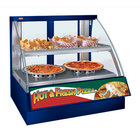 Hatco FSCDH-2PD Navy Flav-R-Savor Convected Air Curved Front Display Case with Humidity Control