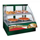 Hatco FSCDH-2PD Green Flav-R-Savor Convected Air Curved Front Display Case with Humidity Control