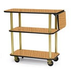 Geneva 36102 Rectangular 3 Shelf Laminate Tableside Service Cart with 10