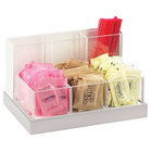 Cal-Mil 3013-55 Luxe Multi-Bin Condiment and Stir Stick Organizer with Stainless Steel Base - 8 1/4