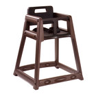 Koala Kare KB850-09 Brown Assembled Stackable Plastic High Chair
