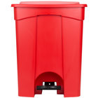 Continental 18RD 18 Gallon Red Step On Trash Can