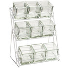 Cal-Mil 1812-39 Iron Three Tier Platinum Nine Jar Display - 13