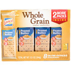 Lance Whole Grain Peanut Butter Sandwich Crackers 8 Count Box - 14 / Case