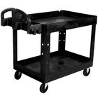 Rubbermaid 1867535 Black 2 Shelf Utility Cart - 36