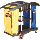 Rubbermaid FG9T7900BLA Double Capacity Janitor Cart