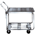 Winholt 9000-STK4 Two Shelf Chrome Plated Steel Stocking Cart - 44