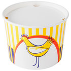 Choice 3.5 lb. Chicken Bucket with Lid - 35/Pack