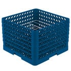 Vollrath PM0912-6 Traex Royal Blue 9 Compartment Plate Rack - 11 1/4