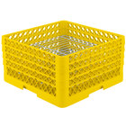 Vollrath PM3208-4 Traex Yellow 32 Compartment Plate Rack - 7 5/8