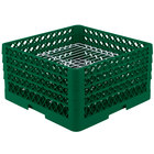 Vollrath PM3208-3 Traex Green 32 Compartment Plate Rack - 4 3/4
