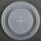 Dinex DX5900ST8714 Translucent Disposable Lid with Straw Slot for Dinex DXFT907 9 oz. Clear Fenwick SAN Tumbler and Dinex DXFT1207 12 oz. Clear Fenwick SAN Tumbler - 1000/Case