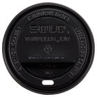 Dart Solo TLB316-0004 Traveler Black Dome Hot Cup Lid with Sip Hole - 1000 / Case