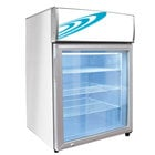 Excellence CTF-4MS White Countertop Display Freezer with Swing Door - 3.5 cu. ft.