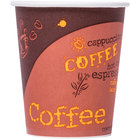 Choice 8 oz. Poly Paper Hot Cup with Coffee Design - 1000/Case