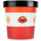 Choice 16 oz. Double-Wall Poly Paper Soup / Hot Food Cup with Vented Paper Lid - 25/Pack