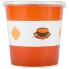 Choice 16 oz. Double-Wall Poly Paper Soup / Hot Food Cup with Plastic Lid - 25/Pack