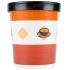 Choice 32 oz. Double-Wall Poly Paper Soup / Hot Food Cup with Vented Paper Lid - 25/Pack