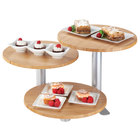 Cal-Mil 3347-3-60 3-Tier Swivel Display with Round Bamboo Shelves - 12