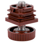 Grosfillex USSP0078 Adjustable Replacement Foot for Pedestal and Lateral Resin Table Bases - Bordeaux