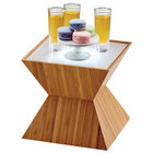 Cal-Mil 3028-60L Bamboo Riser with Underlit Frosted Top - 10 1/2