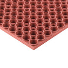 Teknor Apex 439-502 T13 Tek-Tough 3' x 5' Red Grease-Resistant Rubber Mat - 7/8