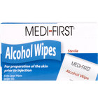 Medi-First Alcohol Wipes / Prep Pads 50/Box