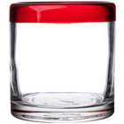 Libbey 92302R Aruba 12 oz. Rocks / Old Fashioned Glass with Red Rim - 12 / Case