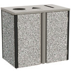 Lakeside 3415 Stainless Steel Refuse / Recycle / Paper Station with Top Access and Gray Sand Laminate Finish - 37 1/2