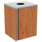 Lakeside 3410 Stainless Steel Refuse Station with Top Access and Victorian Cherry Laminate Finish - 26 1/2