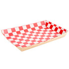 Checkered Kraft Lunch Tray - 10 1/2