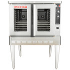 Blodgett ZEPHAIRE-100-G Single Deck Full Size Standard Depth Gas Convection Oven with Draft Diverter - 50,000 BTU