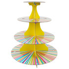 Wilton 1512-0726 4-Tier Neon Striped Disposable Cupcake Display Stand