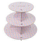 Wilton 1512-1675 3-Tier Polka Dot Disposable Cupcake Display Stand