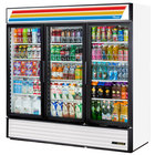 True GDM-72-HC-LD White Glass Door Refrigerated Merchandiser with LED Lighting