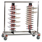 Plate Mate PM96-160 Twin Mobile Plate Rack Holds 96 Plates 49 1/2