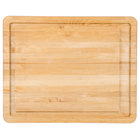 Tablecraft CBW20161L Wood Cutting Board with Well and Non-Slip Legs - 20